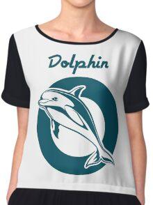 Dolphin Emblem   Chiffon Top