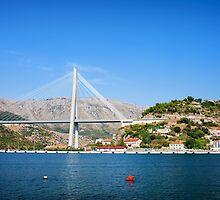 Franjo Tudjman Bridge in Dubrovnik by Artur Bogacki