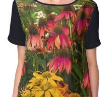 Floral Rainbow Chiffon Top