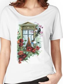 Vintage Birds and Flowers II Women's Relaxed Fit T-Shirt
