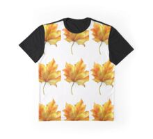 Fall Colored Leaf Graphic T-Shirt