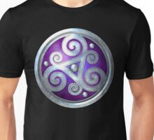Purple Celtic Double Triskelion Unisex T-Shirt