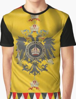Imperial Crown of Austria over Standard of the Emperor Graphic T-Shirt