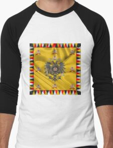 Imperial Crown of Austria over Standard of the Emperor Men's Baseball ¾ T-Shirt