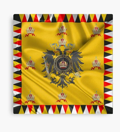 Imperial Crown of Austria over Standard of the Emperor Canvas Print