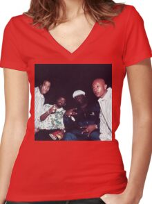 Biggie Smalls, Jermaine Dupri, Kriss Kross Women's Fitted V-Neck T-Shirt