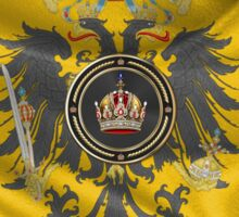 Imperial Crown of Austria over Standard of the Emperor Sticker