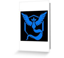 Pokemon Go | Team Mystic | Black Background | Small | New! | High Quality! Greeting Card
