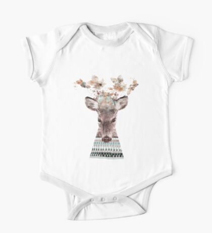 in nature deer One Piece - Short Sleeve