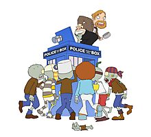 Zombie chasing the Doctor Photographic Print