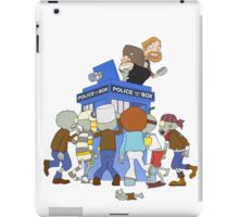 Zombie chasing the Doctor iPad Case/Skin