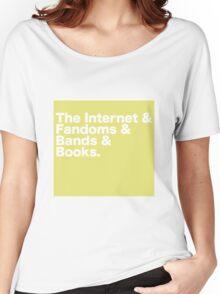 Yellow Internet Text Women's Relaxed Fit T-Shirt