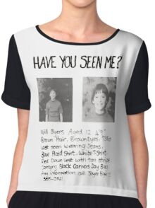 Have you seen me? Stranger Things Chiffon Top