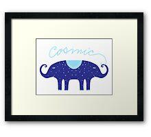 Cosmic Elephant  Framed Print
