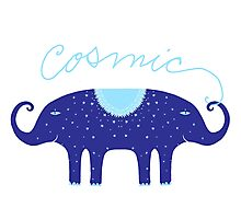 Cosmic Elephant  Photographic Print