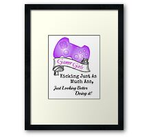 Gamer Girls Kick Ass Framed Print