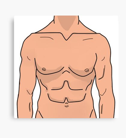Funny Sexy Naked Man Body  Canvas Print