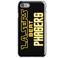 Lasers Beat Phasers iPhone Case/Skin