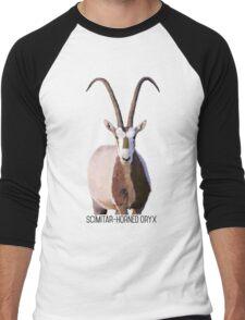 Scimitar-Horned Oryx Men's Baseball ¾ T-Shirt