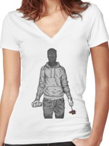 Graffiti Soldier Women's Fitted V-Neck T-Shirt