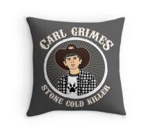 Carl Grimes - Stone cold killer Throw Pillow