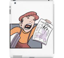Vintage Paper Boy iPad Case/Skin