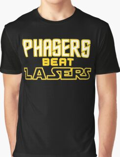 Phasers Beat Lasers Graphic T-Shirt