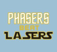 Phasers Beat Lasers Kids Tee
