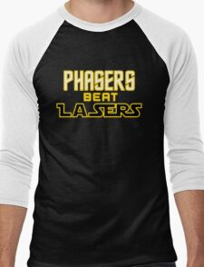 Phasers Beat Lasers Men's Baseball ¾ T-Shirt