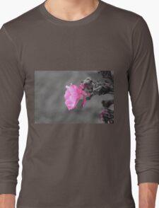 Pink Flower Photo Long Sleeve T-Shirt
