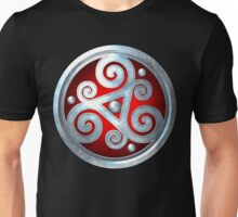 Red Celtic Double Triskelion Unisex T-Shirt