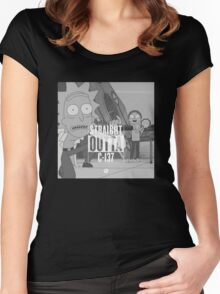 Straight Outta C-137 Women's Fitted Scoop T-Shirt
