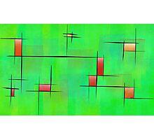 Ossipiana V1 - digital abstract Photographic Print