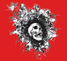 Skull Floral Explosion Kids Tee