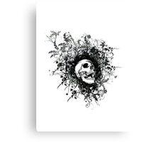 Skull Floral Explosion Canvas Print