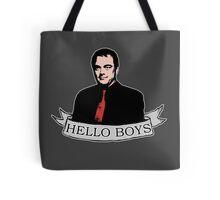 Crowley - Hello boys with banner Tote Bag