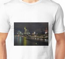 Frankfurter Skyline in the Night  Unisex T-Shirt
