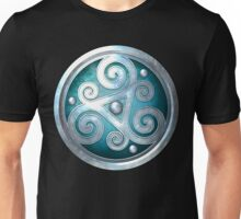 Teal Celtic Double Triskelion Unisex T-Shirt