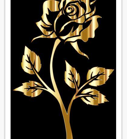 Gold Rose Sticker
