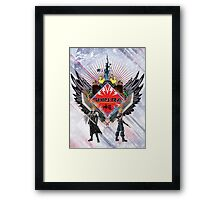 Final Fantasy VII - Shinra (Black) Framed Print