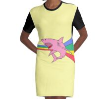Le Requin Rose Graphic T-Shirt Dress