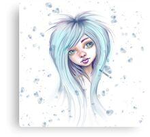 Blue Hair Nugoth Girl - Icicle Canvas Print