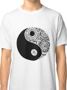 Black and White Lace Yin Yang Classic T-Shirt
