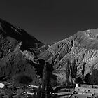 Mountain Panorama of Purmamarca - No. 2 - Monochrome by photograham