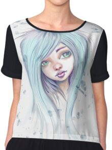 Blue Hair Nugoth Girl - Icicle Chiffon Top