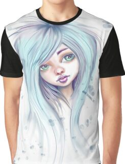 Blue Hair Nugoth Girl - Icicle Graphic T-Shirt