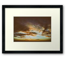 Beautiful Sunset On Cloudy Summer Sky Framed Print