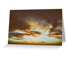 Beautiful Sunset On Cloudy Summer Sky Greeting Card