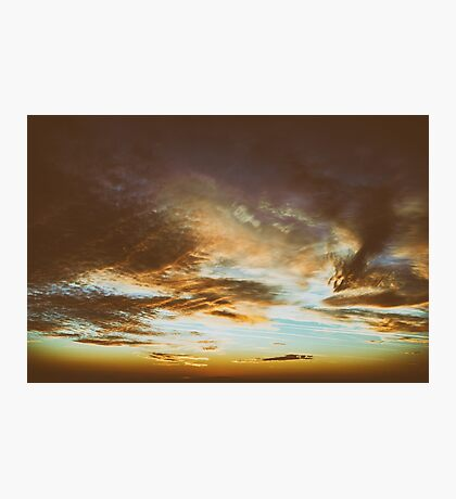 Beautiful Sunset On Cloudy Summer Sky Photographic Print
