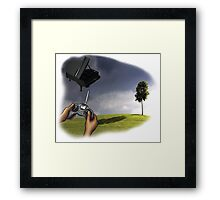 Fliegendes Piano Framed Print
